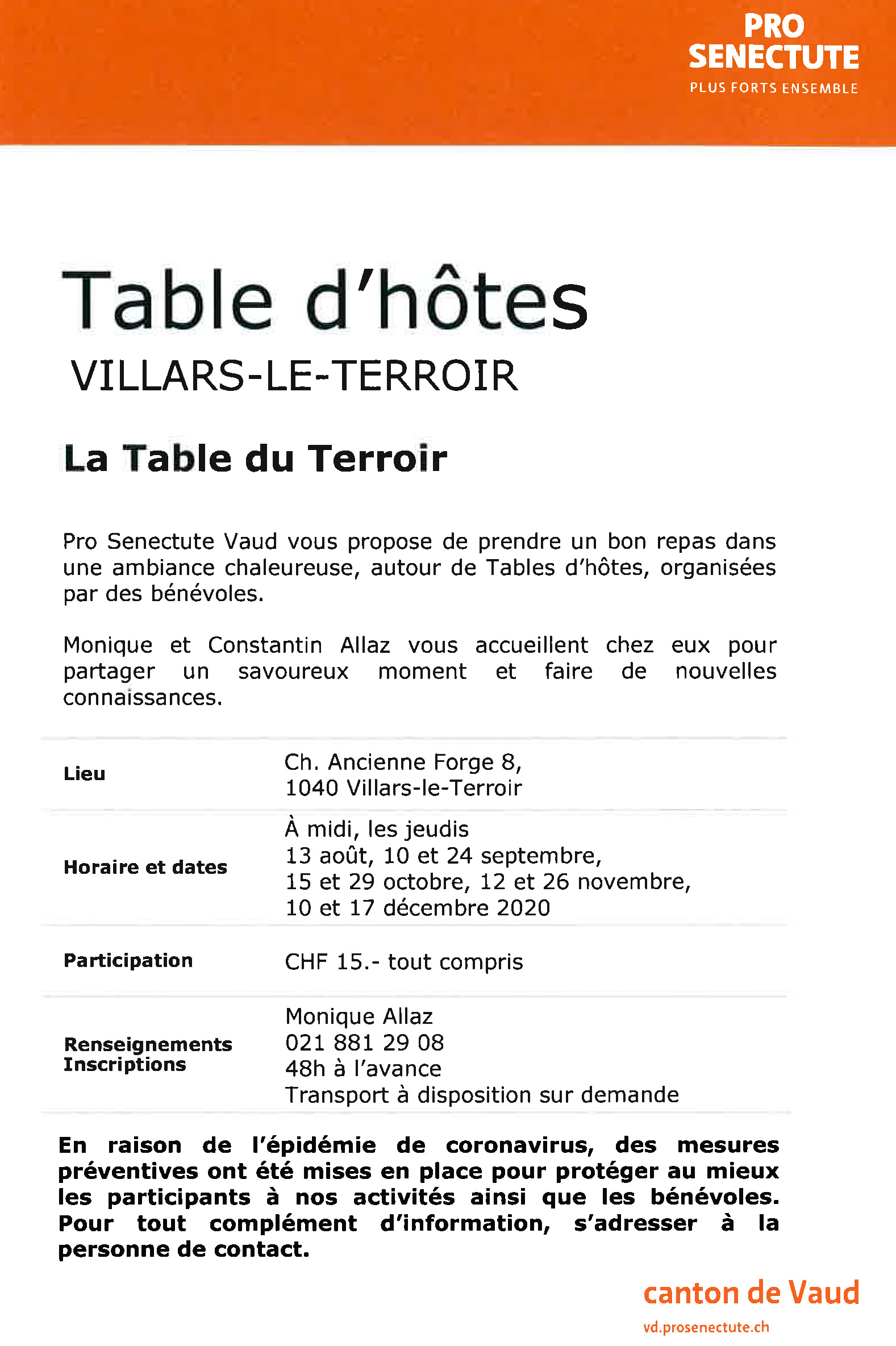 table d hotes