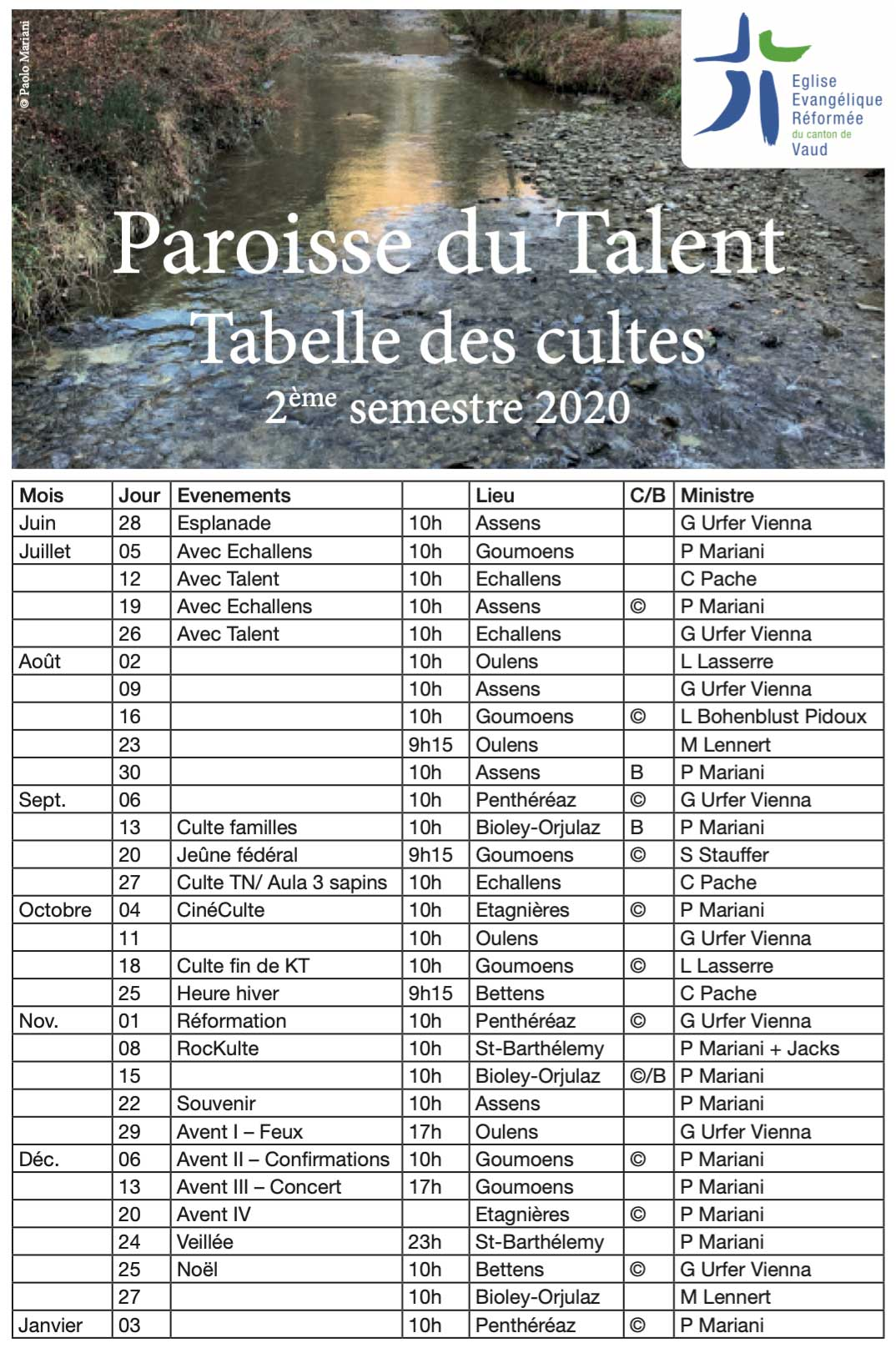 tabelle cultes
